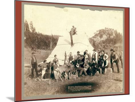 Happy Hours in Camp. G. and B.&M. Engineers Corps and Visitors-John C. H. Grabill-Mounted Giclee Print