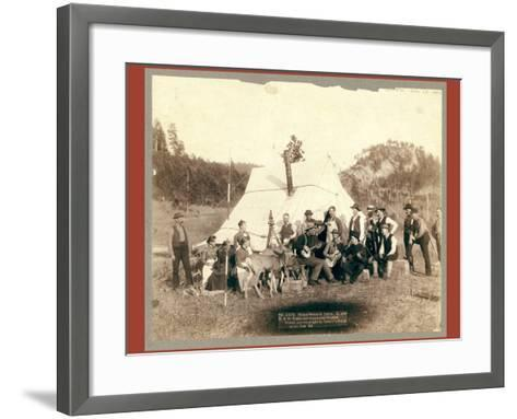 Happy Hours in Camp. G. and B.&M. Engineers Corps and Visitors-John C. H. Grabill-Framed Art Print