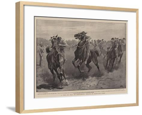 A Tug of War on Horseback, Sports in Maitland Camp-John Charlton-Framed Art Print