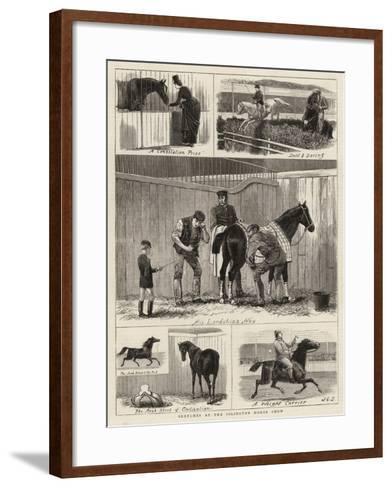 Sketches at the Islington Horse Show-John Charles Dollman-Framed Art Print
