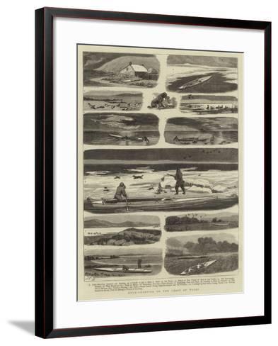 Duck-Shooting on the Coast of Wales-John Charles Dollman-Framed Art Print
