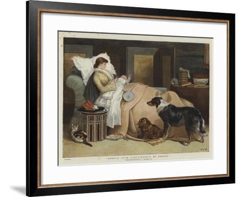 Should Auld Acquaintance Be Forgot-John Charles Dollman-Framed Art Print
