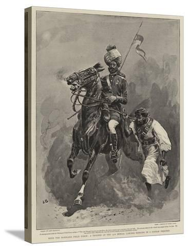 With the Mohmand Field Force, a Trooper of the 13th Bengal Lancers Bringing in a Pathan Prisoner-John Charlton-Stretched Canvas Print