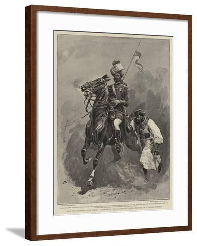 With the Mohmand Field Force, a Trooper of the 13th Bengal Lancers Bringing in a Pathan Prisoner-John Charlton-Framed Art Print