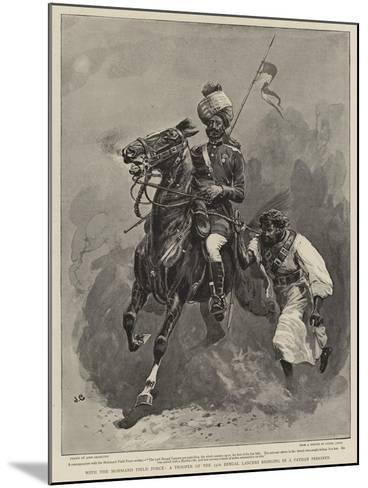 With the Mohmand Field Force, a Trooper of the 13th Bengal Lancers Bringing in a Pathan Prisoner-John Charlton-Mounted Giclee Print