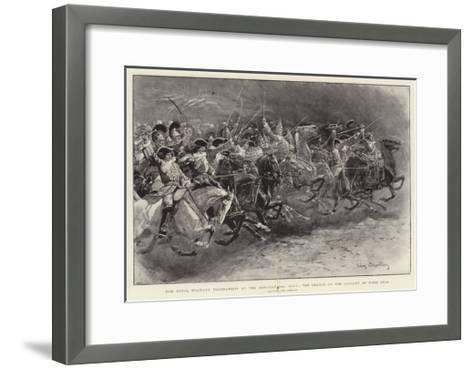 The Royal Military Tournament at the Agricultural Hall, the Charge of the Cavalry of Four Eras-John Charlton-Framed Art Print