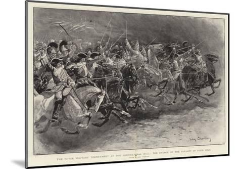 The Royal Military Tournament at the Agricultural Hall, the Charge of the Cavalry of Four Eras-John Charlton-Mounted Giclee Print
