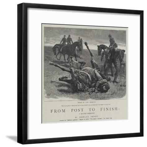 From Post to Finish, a Racing Romance-John Charlton-Framed Art Print