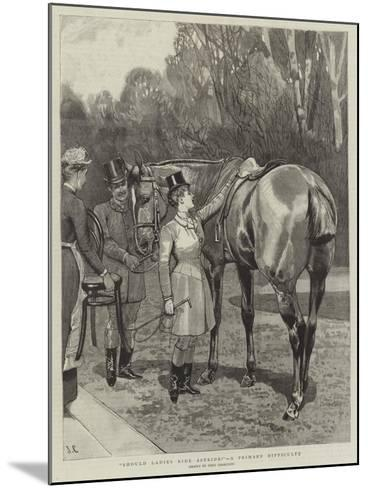 Should Ladies Ride Astride?, a Primary Difficulty-John Charlton-Mounted Giclee Print