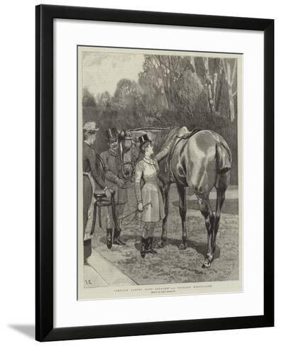 Should Ladies Ride Astride?, a Primary Difficulty-John Charlton-Framed Art Print
