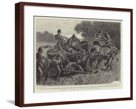 Bogged, an Incident in the New Forest Manoeuvres-John Charlton-Framed Art Print