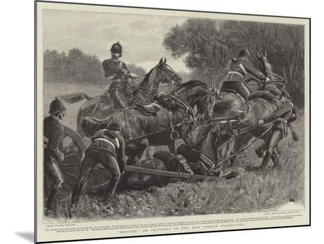 Bogged, an Incident in the New Forest Manoeuvres-John Charlton-Mounted Giclee Print