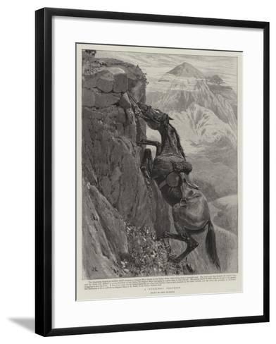 A Perilous Position-John Charlton-Framed Art Print