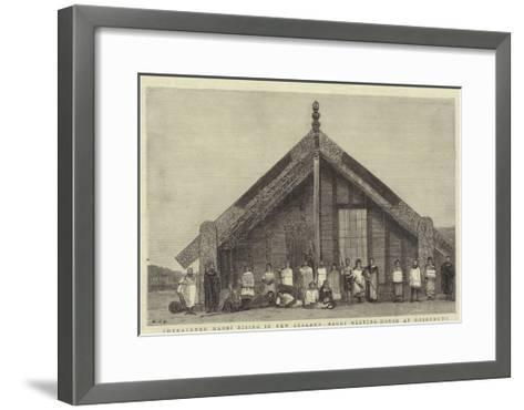 Threatened Maori Rising in New Zealand, Maori Meeting-House at ...