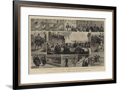 The Land Agitation in Ireland, Sketches from Ballinrobe and Lough Mask-John Charles Dollman-Framed Art Print