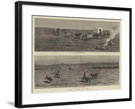 Cattle in the Far West, II-John Charles Dollman-Framed Art Print