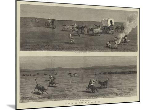 Cattle in the Far West, II-John Charles Dollman-Mounted Giclee Print