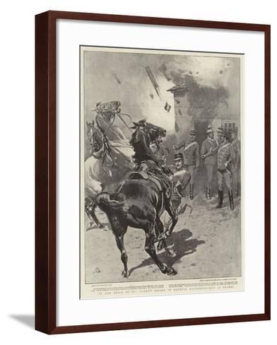 In the Thick of It, Narrow Escape of General Mavromichaelis at Reveni-John Charlton-Framed Art Print
