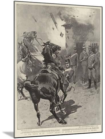In the Thick of It, Narrow Escape of General Mavromichaelis at Reveni-John Charlton-Mounted Giclee Print