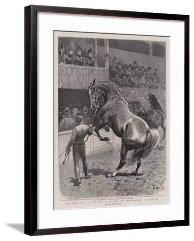 The Royal Visit to the Show of Hunters and Thoroughbreds at Islington-John Charlton-Framed Art Print