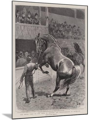 The Royal Visit to the Show of Hunters and Thoroughbreds at Islington-John Charlton-Mounted Giclee Print