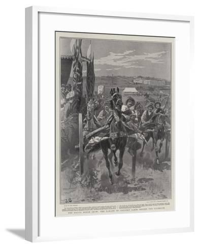The Malta Horse Show, the Parade of Country Carts before the Governor-John Charlton-Framed Art Print
