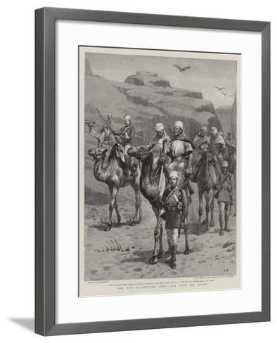 The Nile Expedition, Sent Back from the Front-John Charlton-Framed Art Print