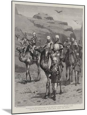 The Nile Expedition, Sent Back from the Front-John Charlton-Mounted Giclee Print