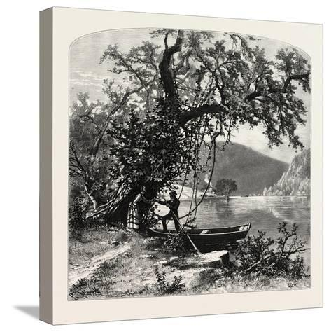 James River, Above Rope Ferry, Virginia, USA-John Douglas Woodward-Stretched Canvas Print
