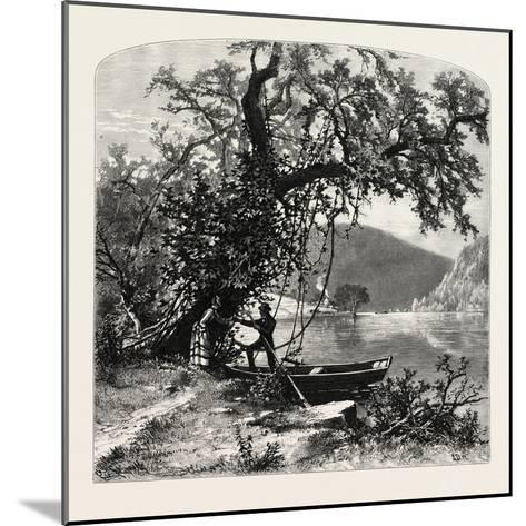 James River, Above Rope Ferry, Virginia, USA-John Douglas Woodward-Mounted Giclee Print