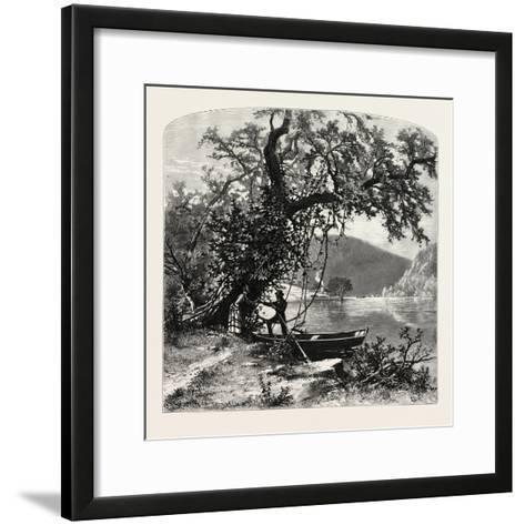 James River, Above Rope Ferry, Virginia, USA-John Douglas Woodward-Framed Art Print