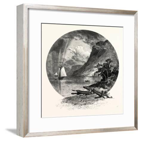 The Palisades, from the River-John Douglas Woodward-Framed Art Print
