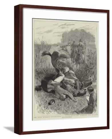 The Stock Exchange Steeplechases at Enfield, Hylda and Lovestone Come to Grief-John Charlton-Framed Art Print