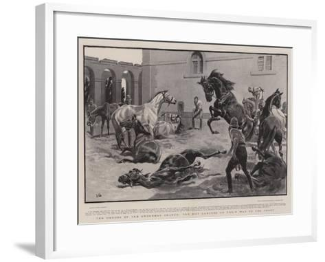 The Heroes of the Omdurman Charge, the 21st Lancers on their Way to the Front-John Charlton-Framed Art Print