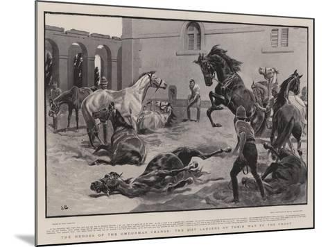 The Heroes of the Omdurman Charge, the 21st Lancers on their Way to the Front-John Charlton-Mounted Giclee Print