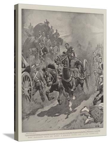 More Dangerous Than the Enemy, a Runaway Water Cart at the Manoeuvres-John Charlton-Stretched Canvas Print