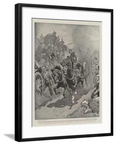 More Dangerous Than the Enemy, a Runaway Water Cart at the Manoeuvres-John Charlton-Framed Art Print