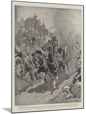More Dangerous Than the Enemy, a Runaway Water Cart at the Manoeuvres-John Charlton-Mounted Giclee Print