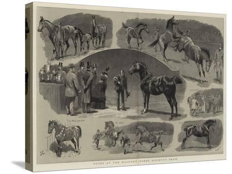 Notes at the Hackney Horse Society's Show-John Charlton-Stretched Canvas Print