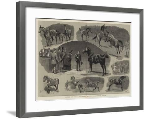 Notes at the Hackney Horse Society's Show-John Charlton-Framed Art Print