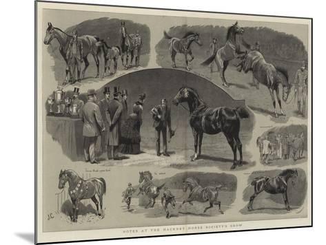 Notes at the Hackney Horse Society's Show-John Charlton-Mounted Giclee Print
