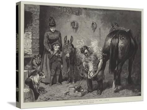 Misgivings, His First Visit to the Forge-John Charlton-Stretched Canvas Print