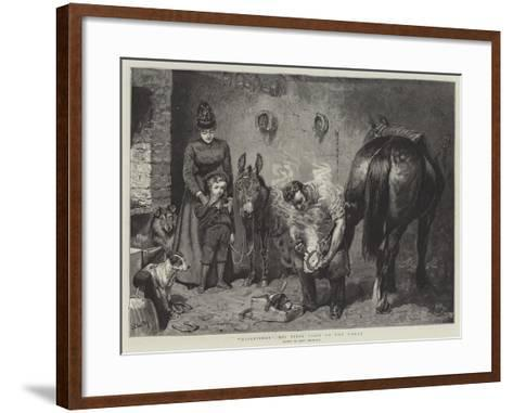 Misgivings, His First Visit to the Forge-John Charlton-Framed Art Print
