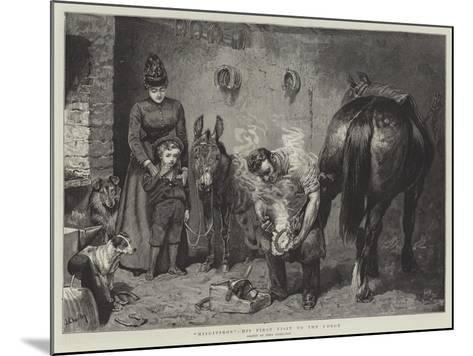Misgivings, His First Visit to the Forge-John Charlton-Mounted Giclee Print