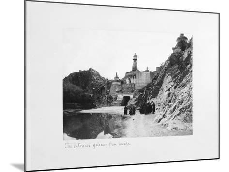 The Entrance Gateway from Inside the Precinct of Tthe Potala Palace, Lhasa, Tibet, 1903-04-John Claude White-Mounted Giclee Print
