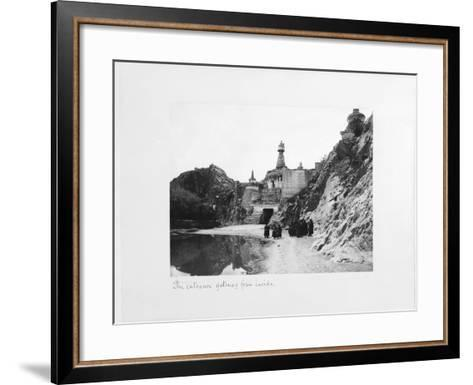 The Entrance Gateway from Inside the Precinct of Tthe Potala Palace, Lhasa, Tibet, 1903-04-John Claude White-Framed Art Print