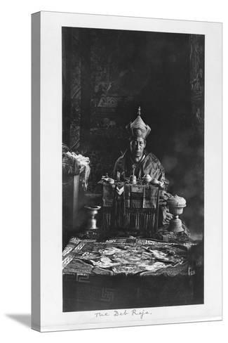 The Deb Raja, Bhutan, 1903-04-John Claude White-Stretched Canvas Print