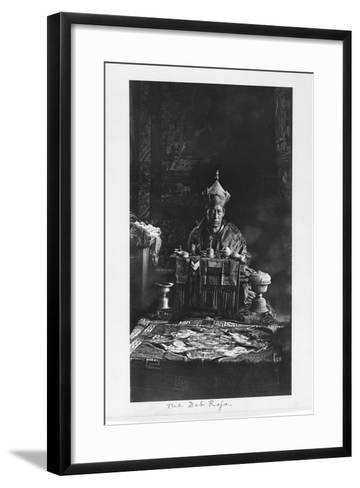 The Deb Raja, Bhutan, 1903-04-John Claude White-Framed Art Print