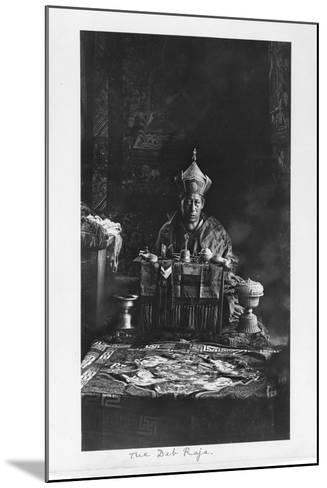 The Deb Raja, Bhutan, 1903-04-John Claude White-Mounted Giclee Print