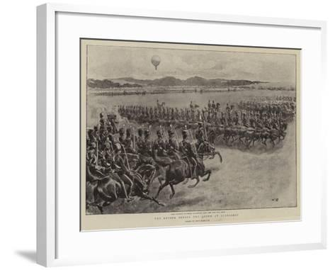 The Review before the Queen at Aldershot-John Charlton-Framed Art Print